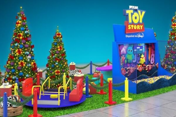 Natal Toy Story: Shopping em Itaquera recebe decoração inspirada em produção infantil